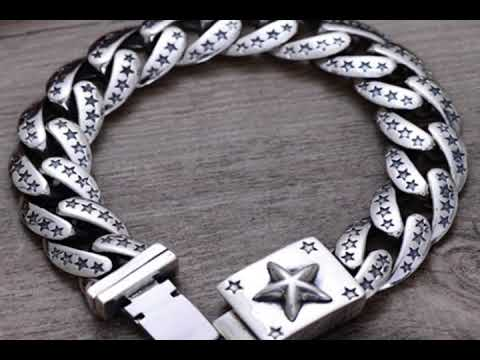 Top Styles and Designs of Mens silver bracelets.