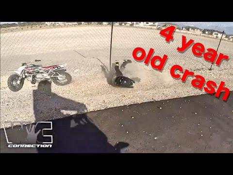 Video 4 YEAR OLD CRASHES INTO FENCE Learning how to ride download in MP3, 3GP, MP4, WEBM, AVI, FLV January 2017