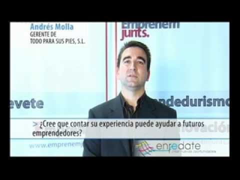 Andrés Mollá Chico de Guzmán, Gerente de TODO PARA SUS PIES SL.