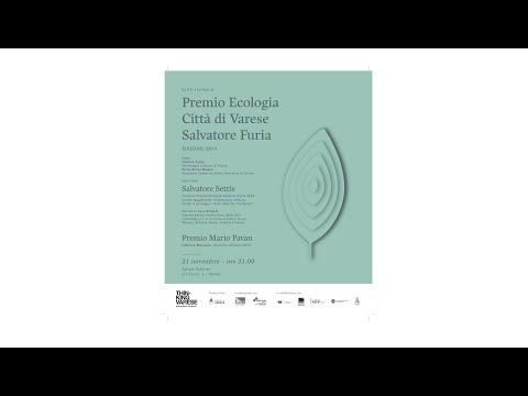 """""""Premio ecologia città di Varese Salvatore Furia"""" 21 novembre 2019"""
