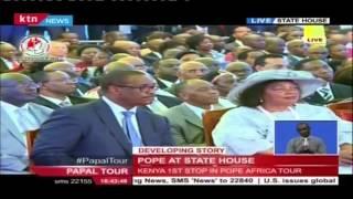 President Uhuru's Speech To Welcome Pope