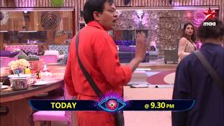The angry side of #BabuGogineni in Bigg Boss Today Episode