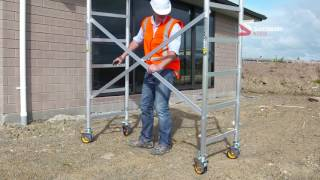 Mini Mobile Scaffolding: Up in Minutes by One Person