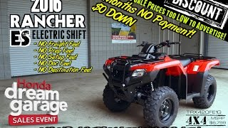 2. 2016 Rancher ES 420 4x4 ATV Review Specs / For Sale - TN GA AL @ Honda of Chattanooga