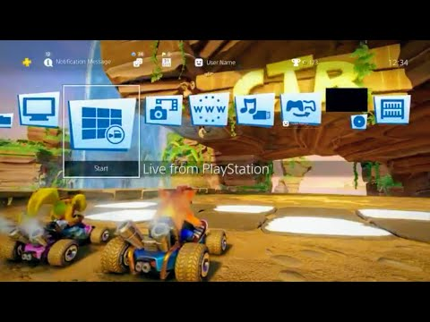 PS4 | CRASH TEAM RACING  Dynamic Theme