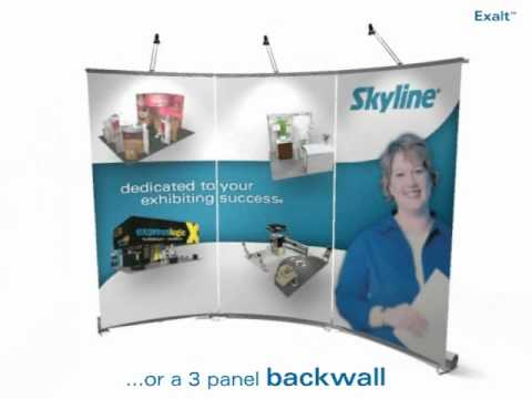 Exalt Curved Banner Stand