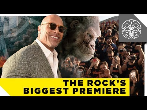 The Rock's Biggest Movie Premiere EVER — Rampage (видео)