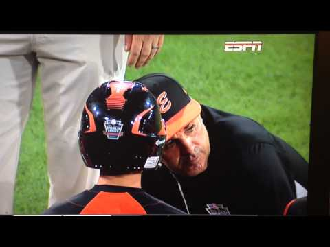 Little - David Belisle, one of the most inspirational coaches in Little League World Series history, speaks to his Cumberland American LL team after it's crushing 8-7 loss to Jackie Robinson West of...
