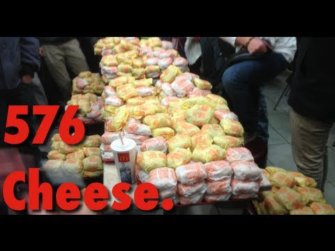 576 - Biggest, known to us, order of cheeseburgers at McDonald's in the world. Currently waiting for a response from The Guinness Wolrd Records. It happened in St-...