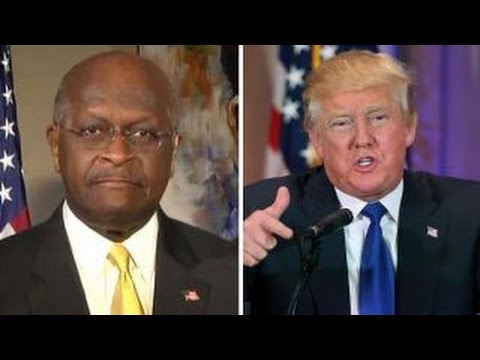 Herman Cain reacts to Donald Trump's Georgia primary win