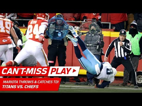 Video: Marcus Mariota Throws a TD to HIMSELF on this Crazy Play! | Can't-Miss Play | NFL Wild Card HLs