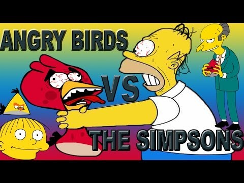 ANGRY BIRDS VS THE SIMPSONS (MASHUP SPOOF VIDEO)