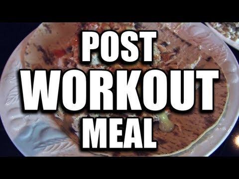 QUICK BODYBUILDING POST-WORKOUT MEAL EXAMPLE