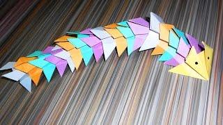 Оригами дракон. Поделки из бумаги для детей.