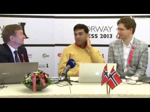 chess - Available in Full 1080p HD GM Viswanathan Anand and GM Jon Ludvig Hammer analyzing their game. Norway Chess 2013 Super Tournament Round 8 May 17 2013 http://...