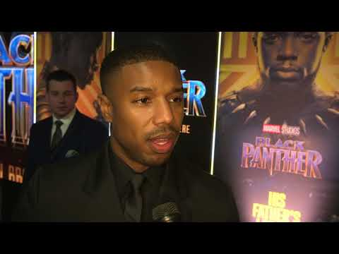 Black Panther London Premiere - Itw Michael B Jordan (official video)