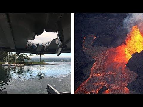 Χαβάη: Λάβα έπεσε πάνω σε τουριστικό πλοίο