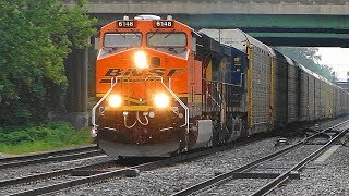 BNSF Leading CSX Q217 Westbound Through St Denis MARC Station in Baltimore County, Maryland. 8 15 17.