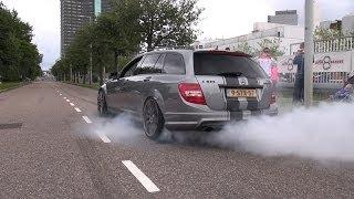 770 koni w rodzinnym kombii czyli potworny Mercedes C63 AMG w akcji!