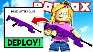 MOST EXPENSIVE GUN IN THE GAME! *Dark Matter Gun* Roblox Little Kelly w/ Tiny Turtle
