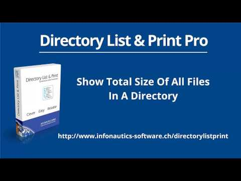 Show Total Size of All Folders and Subfolders in A Directory