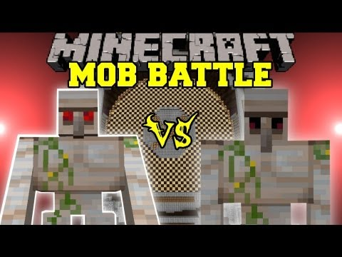 Mutant Iron Golem Vs. Iron Golem - Minecraft Mob Battles - Chocolate Quest Mod