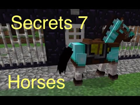 Minecraft: Secrets 7 – Horses (Saddle, Horse Armor, Taming)