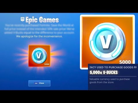 The Free Fortnite V BUCK Error Right Now...