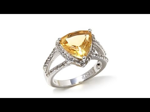 Colleen Lopez 2.92ctw Citrine and White Topaz Ring