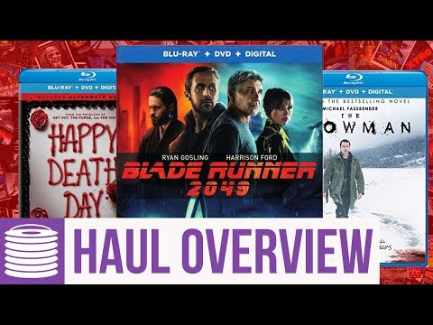 Blade Runner 2049 Many More Blu Ray Haul Overview (1/16/18)