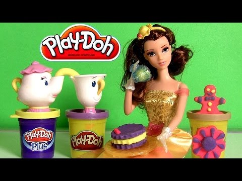 set - Disneycollector brings Play Doh Royal Tea Party Princess Belle from Disney Beauty and the Beast with Chip and Mrs. Potts Tea Set. Your little princess can have a Play-Doh tea party fit for...