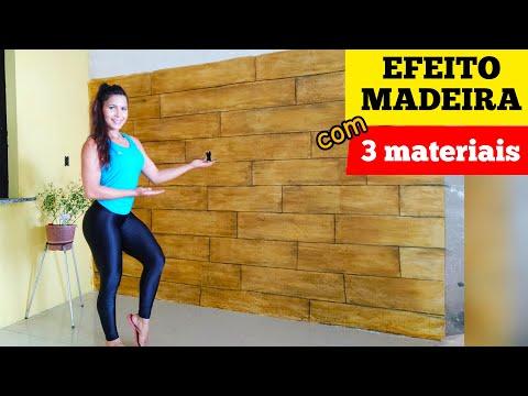 Efeito madeira utilizando apenas 3 materiais | passo a passo. Fácil e barato.