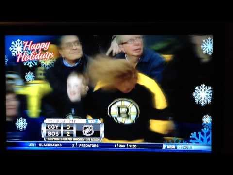 Headbanging Bruins chick
