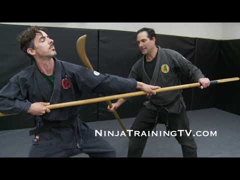 Feudal Japanese Battlefield Fighting Form For Naginata Vs Yari For Bujinkan Ninjutsu Training