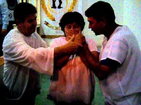 Batismo na igreja quadrangular de Santa Izabel do Oeste pr