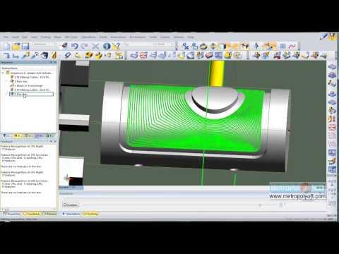 Edgecam Eğitim Videoları 4 Eksen Simültane işleme 2 (видео)