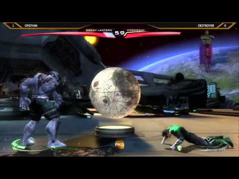 Injustice Grand Finals OSC 2013 - OFIDYAN (Green Lantern) Vs Destroyer (Doomsday)