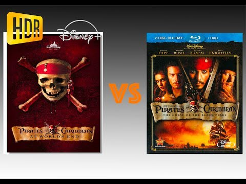 ▶ Comparison of Pirates of the Caribbean The Curse of the Black Pearl 4K Disney+ vs Blu-Ray Version