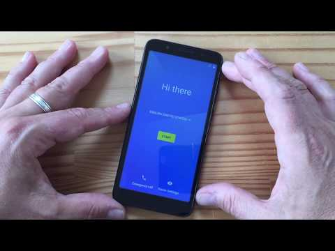 Alcatel 1X Android Go unboxing