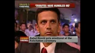 Rahul Dravid retirement felicitation by BCCI @ NewsX
