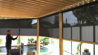 Side Channel Spring Fabric Awning