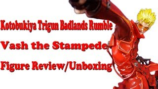 Here's my review/unboxing of the Kotobukiya Trigun Badlands Rumble Vash the Stampede figure.Sorry for the audio. I'm still working out the kinks with my new mic.