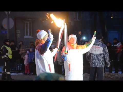 Олимпийская чемпионка Елена Швайбович приняла участие в эстафете олимпийского огня