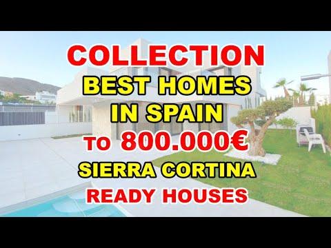 To 800000€/Sierra Cortina/BEST NEW KEY READY villas in Spain/Finestrat/Video review/Houses in Spain