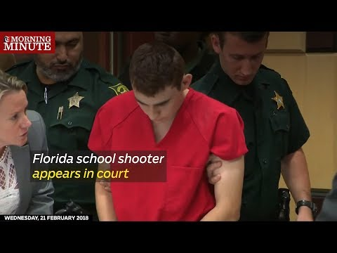 Florida school shooter appears in court