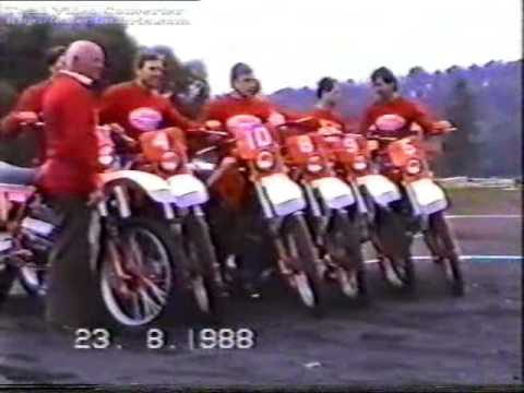 Czechoslovak team on Jawa ISDE 1988