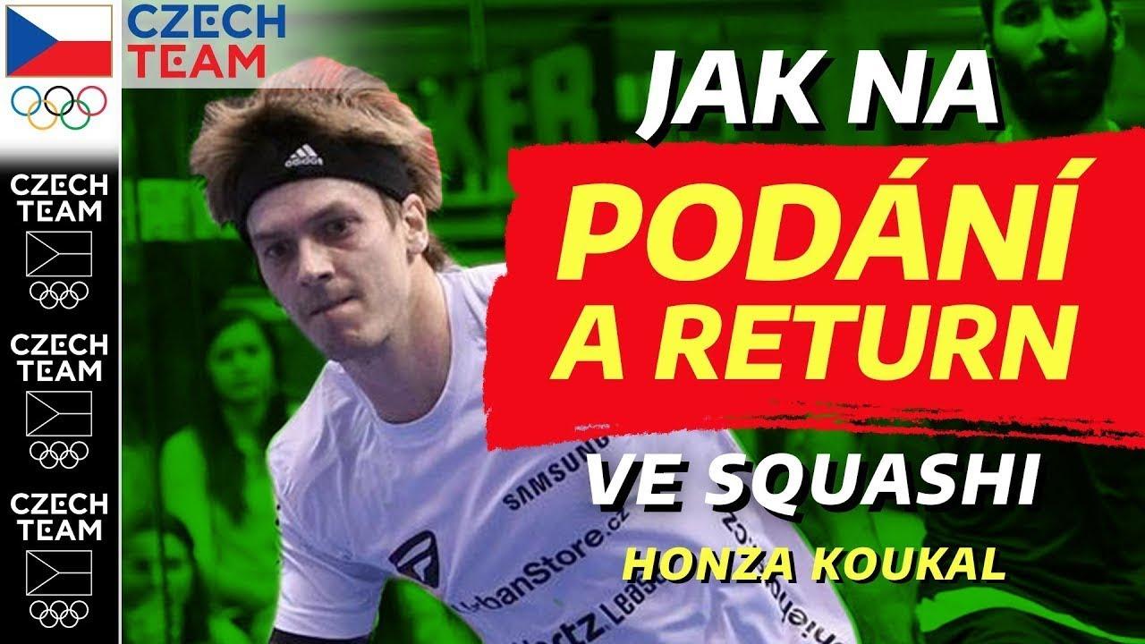 Jak na podání a return ve squashi❓| Squash podle Koukiho