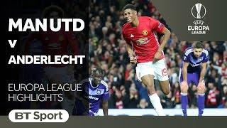 Manchester United 2-1 Anderlecht | Europa League Highlights