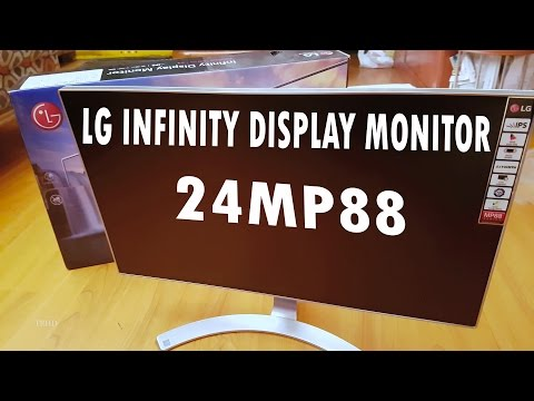 LG 24MP88HM Infinity Display Monitor | Unboxing & Full Review | 4K UHD Video
