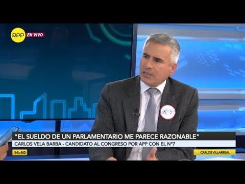 Carlos Vela Barba considera justo el salario actual de los congresistas